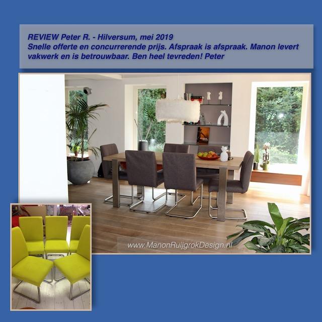 Eetkamerstoelen meubelstoffering ManonRuijgrokDesign